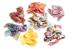 Scarf collection isolated on white Royalty Free Stock Images
