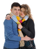 Scarf for couple Royalty Free Stock Photo