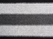 Scarf Detail-black and grey Stock Photo
