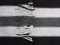 Scarf Detail-black and grey Royalty Free Stock Images