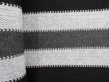 Scarf Detail-black and grey Royalty Free Stock Photos