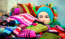 Scarf, Gloves and Dummy Royalty Free Stock Images