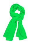 The scarf green silk, tied in a beautiful knot Royalty Free Stock Photos