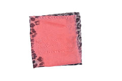 Scarf isolated on white backgroun. pink shawl in a black spot Stock Photos