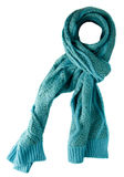 Scarf isolated on white background.Scarf  top view .turquoise Stock Photos