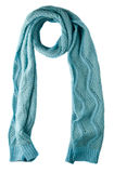 Scarf isolated on white background.Scarf  top view .turquoise Stock Image