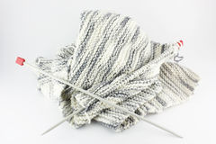 Scarf knitting Stock Photos