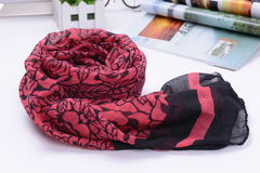 Scarf made by real silk Royalty Free Stock Photo