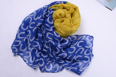 Scarf made by real silk Royalty Free Stock Photography