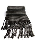 A scarf made of wool. En on a white background royalty free stock photo