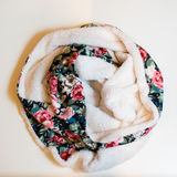 Scarf multicolored clothes. On a white background Royalty Free Stock Photo