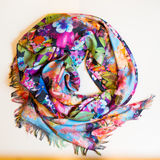 Scarf multicolored clothes. On a white background Stock Image