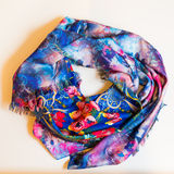 Scarf multicolored clothes. On a white background Stock Images