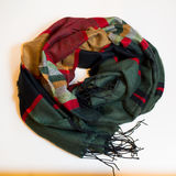 Scarf multicolored clothes. On a white background Royalty Free Stock Image