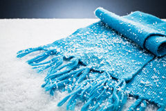 Scarf over the snow Royalty Free Stock Photos