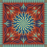 Scarf pattern. Abstract beautiful shape pattern on orange background Royalty Free Stock Photography