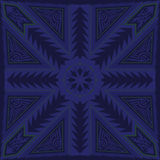Scarf pattern. Abstract blue contemporary style pattern Royalty Free Stock Photos