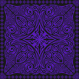 Scarf pattern. Black and purple contemporary asian style pattern Stock Photo