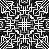 Scarf pattern. White tube involve seamless pattern on black Royalty Free Stock Photos