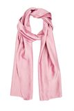 The scarf pink silk, isolated on a white background Stock Photo
