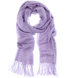 Scarf. Purple fashion woman clothes scarf Stock Photos