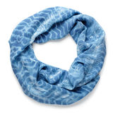 Scarf. Silk blue scarf isolated on white background Royalty Free Stock Photo