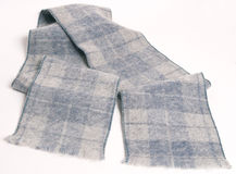 Scarf with square pattern in shades of grey Royalty Free Stock Photo