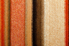 Scarf straps. Colourful quality Kashmiri knitted wool scarf straps Stock Image
