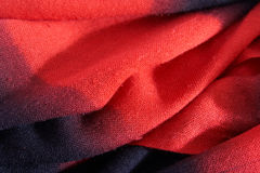 Scarf from  wool color, laying soft folds Stock Image