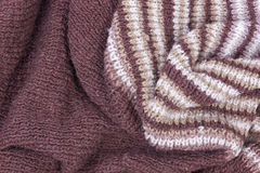 Scarf from wool manual are viscous Royalty Free Stock Image
