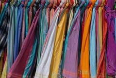 Scarfes coloridos hermosos Fotografía de archivo