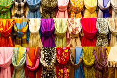 Scarfs. Colorful Scarfs from Istanbul, Turkey Royalty Free Stock Images