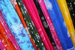 Scarfs Background Stock Photography