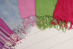Scarfs with fringe Stock Images