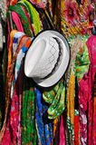 Scarfs and hat Royalty Free Stock Photos