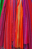 Scarfs on the market Royalty Free Stock Image