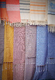 Scarfs at the market Stock Photography