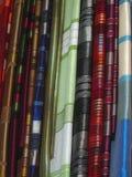 Scarfs on open market Stock Photo