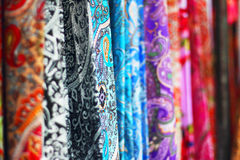 Scarfs in a row Stock Photos