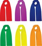 Scarfs set front view Royalty Free Stock Images