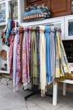 Scarfs in stand,Istanbul ,Turkey. Stock Image