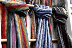 Scarfs in street market Stock Photography