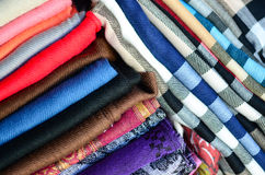 Scarfs texture Stock Images