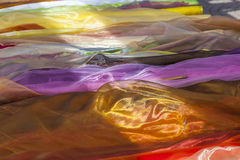 Scarfs in various colors Stock Photos