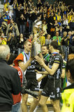 Scarica Champions League 2010/2011 di CEV - quattro finali Fotografie Stock Libere da Diritti