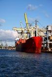 Scaricando dalla nave Fotografia Stock Libera da Diritti