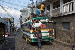 Scaricando un pollo trasporti San Pedronla Laguna, Guatemala Fotografia Stock