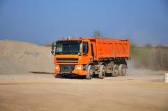 Scaricatore del camion Fotografia Stock
