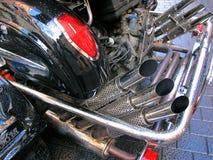 Scarichi del motociclo Fotografia Stock
