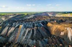 Scarichi della roccia dalle cave Immagini Stock Libere da Diritti